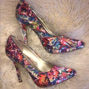 Limelight floral high heels